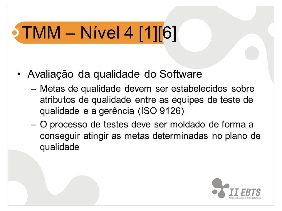 TMM – Nível 4 [1][6] Avaliação da qualidade do Software